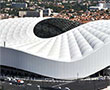 Nearly 700 technical metal doors installed on the New Velodrome Stadium in Marseille