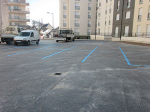 Chantier toiture terrasse parking