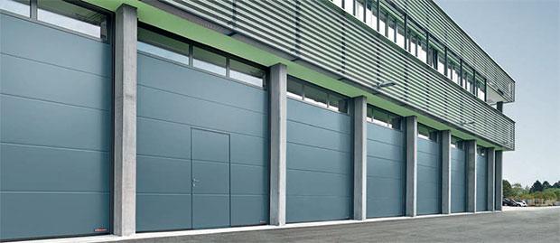 H rmann quand la porte industrielle devient mod le de - Porte de garage sectionnelle industrielle ...