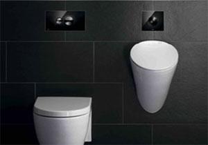 Des plaques de commandes raffin es pour les wc et les urinoirs batinfo Modele de carrelage pour wc