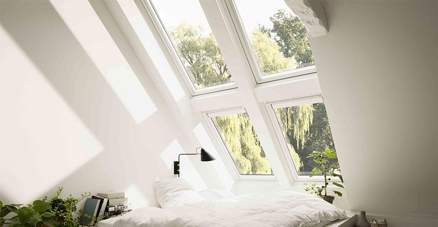 nouvelle fen tre velux finition white finish pour plus de. Black Bedroom Furniture Sets. Home Design Ideas