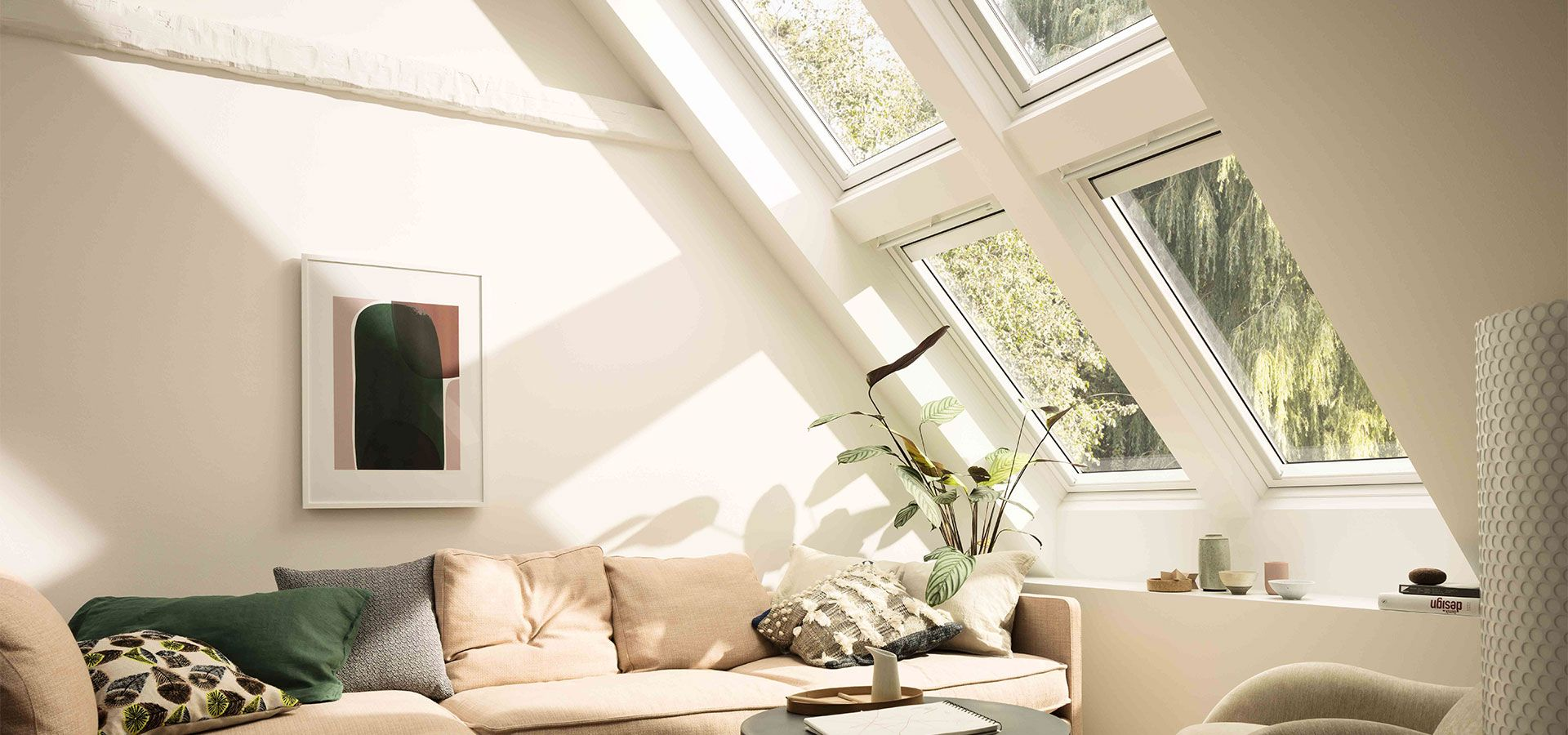 Nouvelle fen tre velux finition white finish pour plus de for Fenetre velux