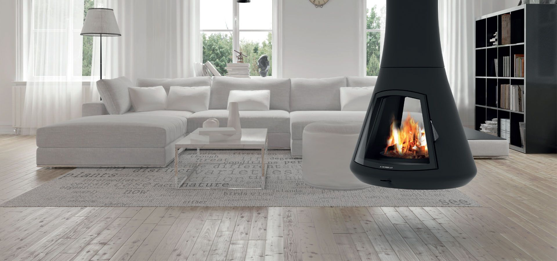 nouvelle chemin e suspendue calista batinfo. Black Bedroom Furniture Sets. Home Design Ideas