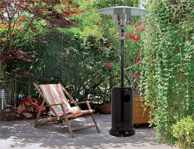 nouveaux parasols chauffants qlima batinfo. Black Bedroom Furniture Sets. Home Design Ideas