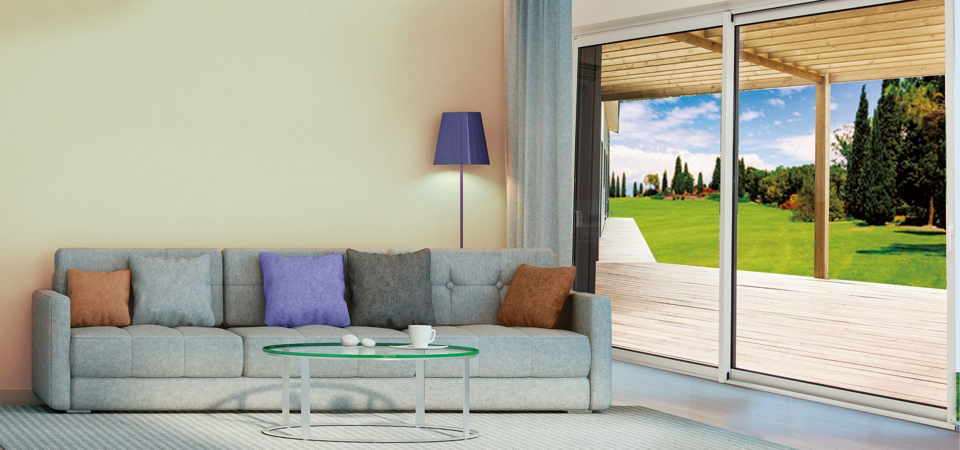 solutions baies vitr es coulissantes finesse confort et. Black Bedroom Furniture Sets. Home Design Ideas