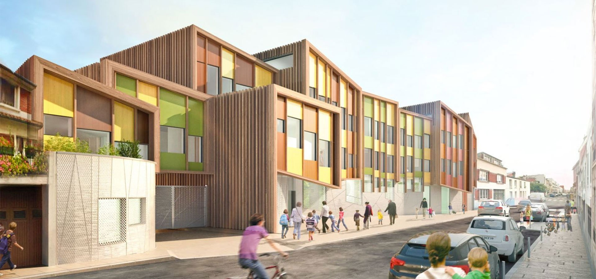 une architecture remarquable en construction bois m tal pour un groupe scolaire montreuil 93