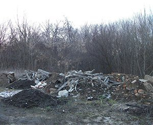 Creation of a polluter pays network against illegal dumping of building waste
