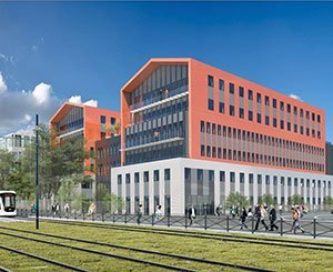 Adim Ouest, filiale de Vinci Construction, pose la 1ère pierre du nouveau campus Orange New Nantes