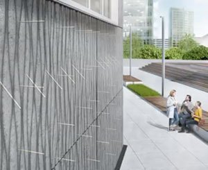 Concrete facade with integrated insulation with Schöck Isolink®