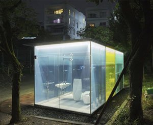 """Game of thrones"": transparent public toilets tested in Tokyo"