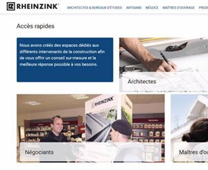 Rheinzink.fr launches a new tailor-made website for each building profession