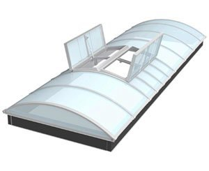 Bluetek Bluevoûte RPT, a continuous thermal break skylight