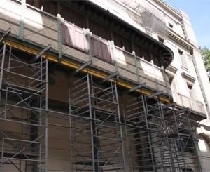 How is Colas digitizing the rehabilitation work of the Théâtre de la Ville?