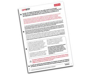 Update of the guide to health security recommendations during the Covid-19 epidemic