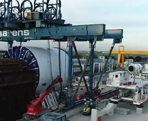 Preparation of the Florence tunnel boring machine for the Puits Flandres site
