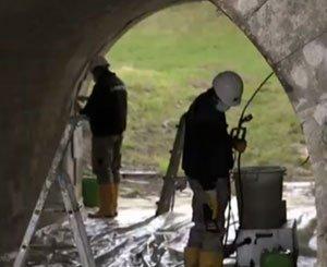 Waterproofing of a rail bridge in the Yonne