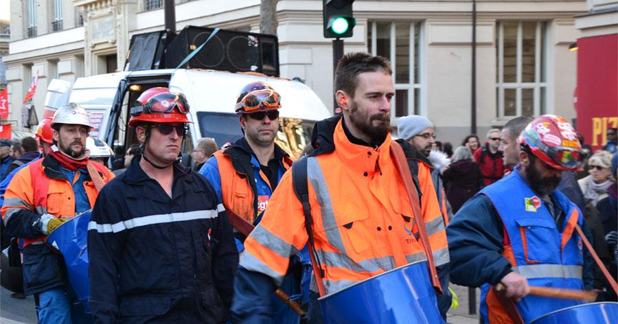 Total Grandpuits strikers Demonstration against the pension reform project. January 16, 2020. Paris - Illustrative image - © Paule Bodilis via Wikimedia Commons - Creative Commons License