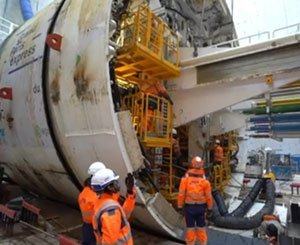 The baptism of the Mireille tunnel boring machine - Ouvrage Bel-Air
