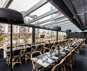 Reflex'Sol Anti-Heat blinds at Restaurant Graziella
