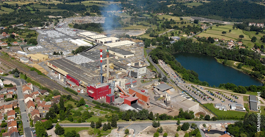 Aerial view of the ROCKWOOL plant in Saint-Éloy-les-Mines - © Marcel Chevret / Rockwool