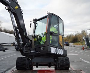 Volvo CE delivers 100.000th machine, Belley Compact Excavator