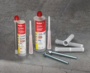 Fastening in concrete and masonry with fischer sealant FIS V Plus