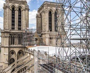 Two years after the fire, Macron on the gutted roof of Notre-Dame
