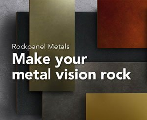 "New range of ""Rockpanel Metals"" products for facade"