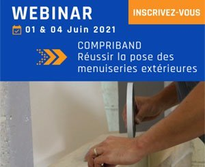 "First Tramico Webinar ""Compriband - Successful installation of exterior joinery"""