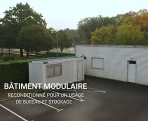 A used Modular for the Technical Services of the Town Hall of Basse Goulaine (44)