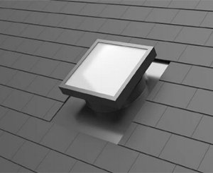 New lightube TP home natural light duct dedicated to pitched roofs between 15 ° and 60 °