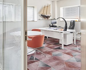 200 m² of Milliken tiles adorn a Toulouse showroom