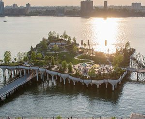 """In New York, """"Little Island"""", the new park levitating on the Hudson"""