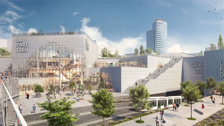 Artist's impression of the 'La Part Dieu' shopping center project in Lyon - © Unibail-Rodamco-Westfield