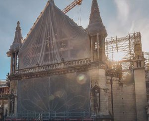 The works of Notre-Dame de Paris in timelapse
