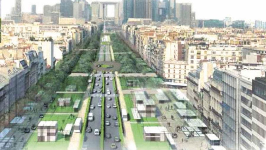 Artist's impression of the Charles de Gaulle Avenue transformation project - © Ville de Neuilly-sur-Seine