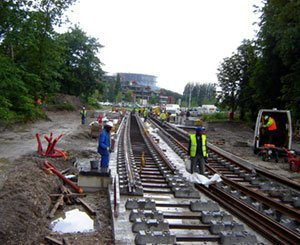 In Champigny, companions equip the tracks of the Grand Paris Express