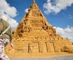 The tallest sand castle in the world built in Denmark