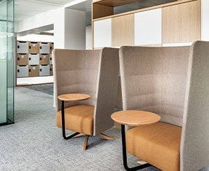 Three Milliken collections dress the Parisian headquarters of the company Perial Développement