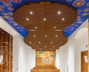 Hunter Douglas Architectural delivers solid corrugated wood ceiling for parish church