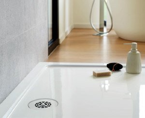 SLIM +, an extra flat shower drain that takes less space
