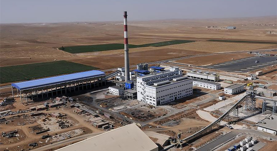 The Jalabiya cement plant during its operation - © Daniel RIFFET via Photononstop - Creative Commons License