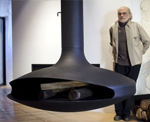 Death of Dominique Imbert, French designer of iconic hanging fireplaces
