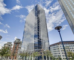 Petit, a subsidiary of Vinci Construction France, delivers the Emblem tower in the business district of Paris La Défense (92)