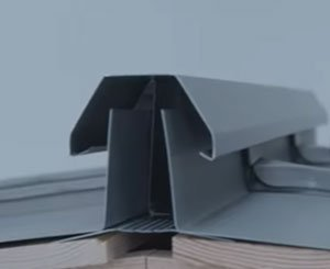 Rheinzink linear ventilation system for zinc roofs