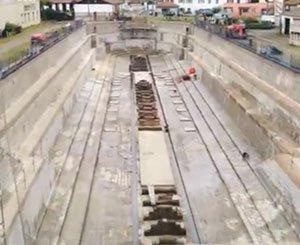 Waterproofing of a dry dock near Bayonne by URETEK®
