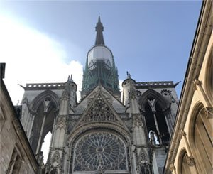 Fourth phase of restoration work on the spire of Rouen cathedral