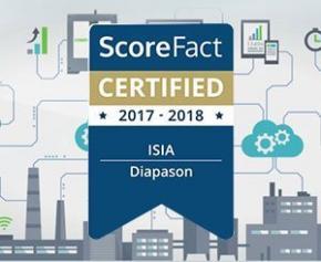Diapason 1er ERP et configurateur Menuiserie à recevoir le label ScoreFact...