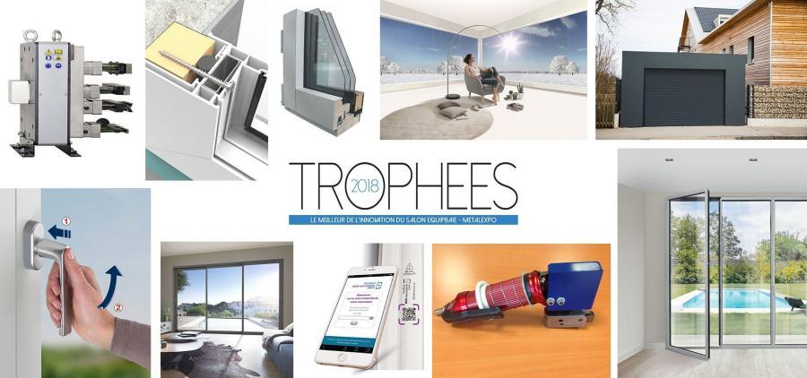 Les lauréats des Trophées de l'Innovation Equipbaie-Métalexpo 2018