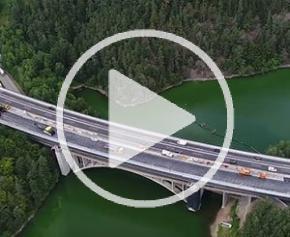 Rénovation de l'autoroute D1 en République Tchèque